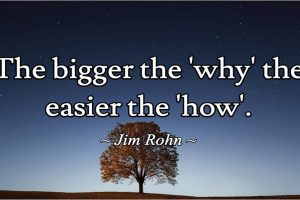 the bigger the why